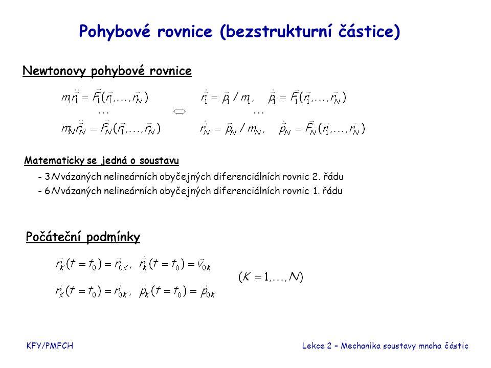 Pohybové rovnice (bezstrukturní částice)