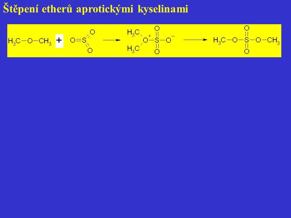 Štěpení etherů aprotickými kyselinami
