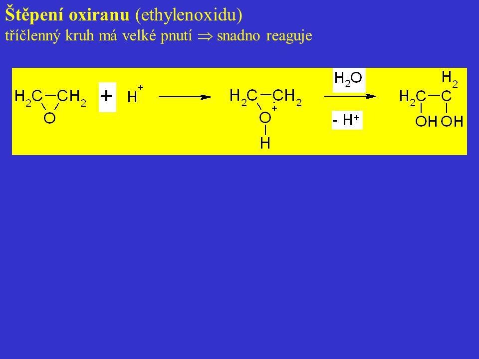 Štěpení oxiranu (ethylenoxidu)