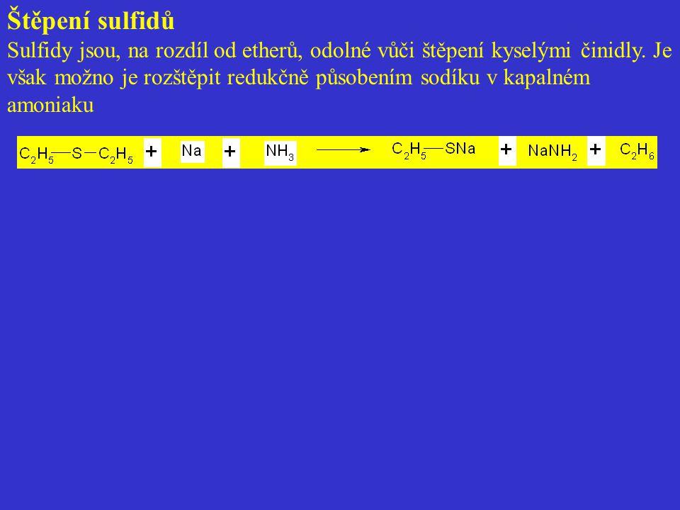 Štěpení sulfidů