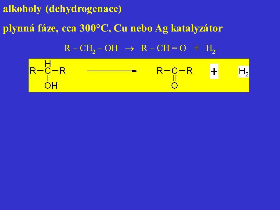 alkoholy (dehydrogenace)