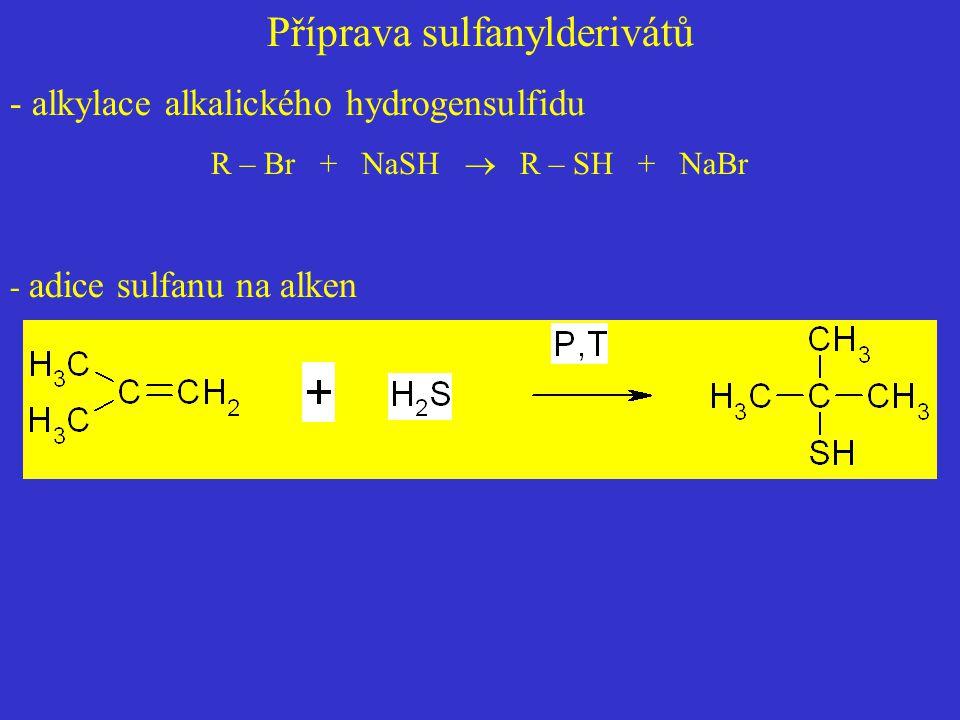 Příprava sulfanylderivátů