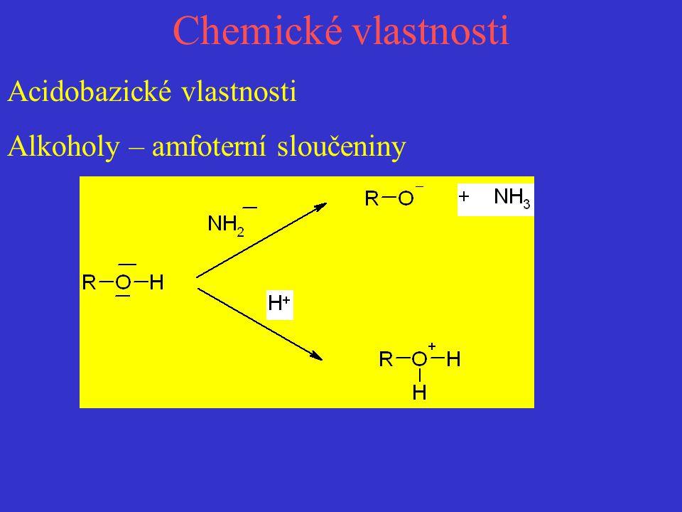 Chemické vlastnosti Acidobazické vlastnosti
