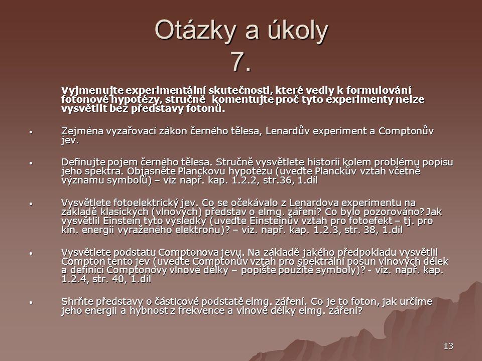 Otázky a úkoly 7.