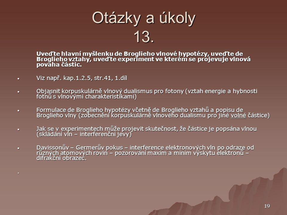 Otázky a úkoly 13.