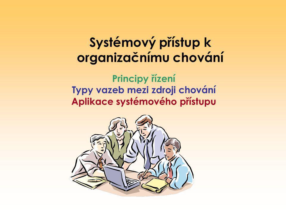 Systémový přístup k organizačnímu chování