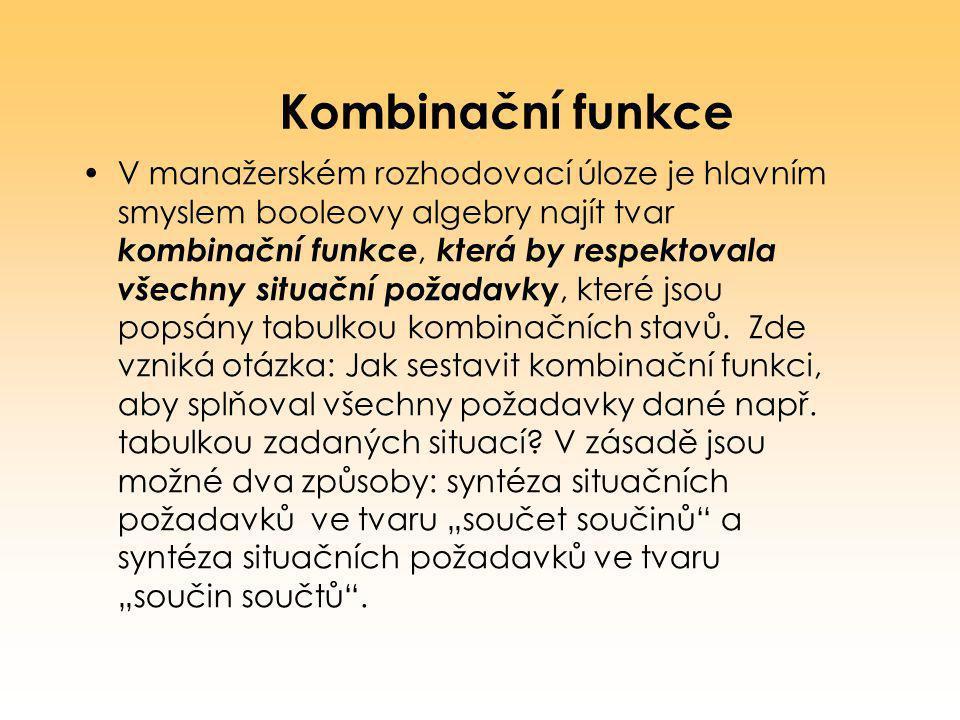 Kombinační funkce
