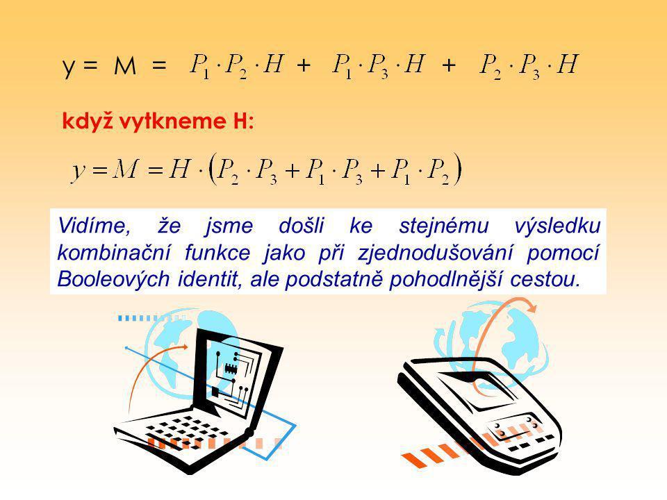 y = M = + + když vytkneme H: