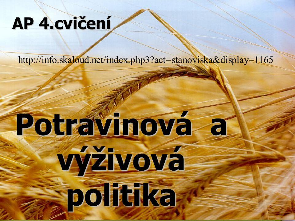 Potravinová a výživová politika