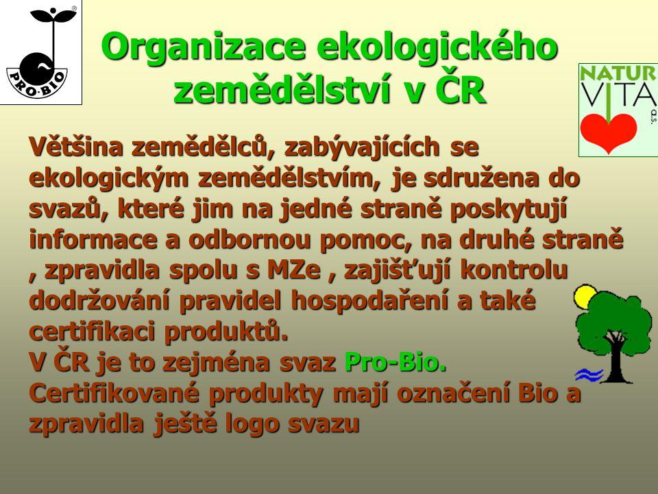 Organizace ekologického zemědělství v ČR