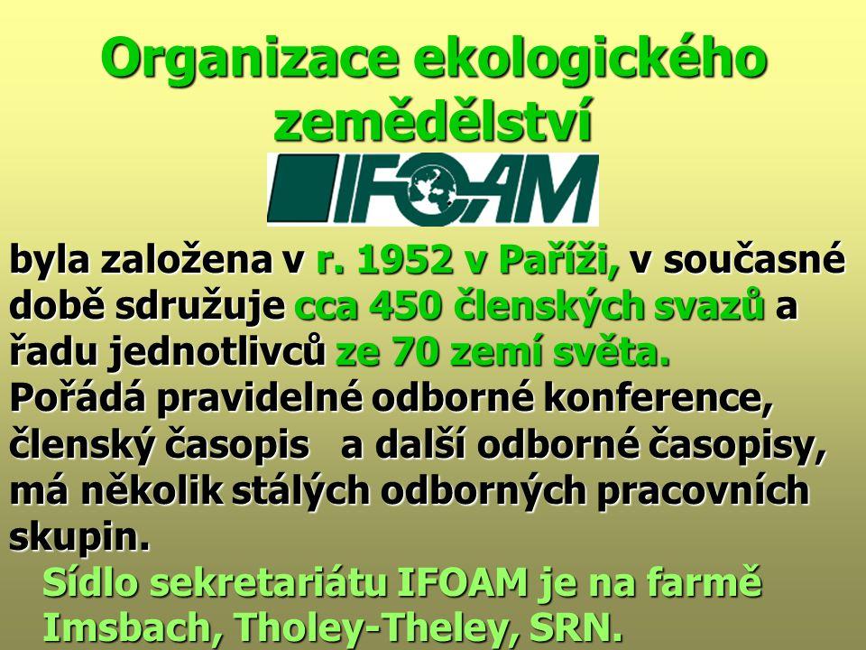 Organizace ekologického zemědělství