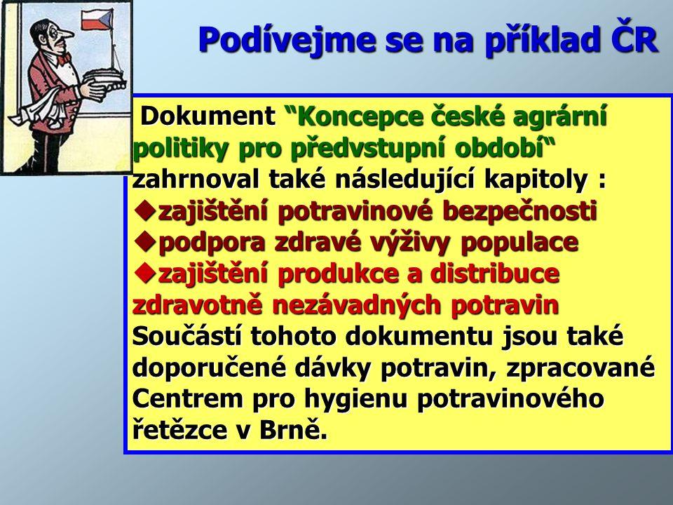 Podívejme se na příklad ČR