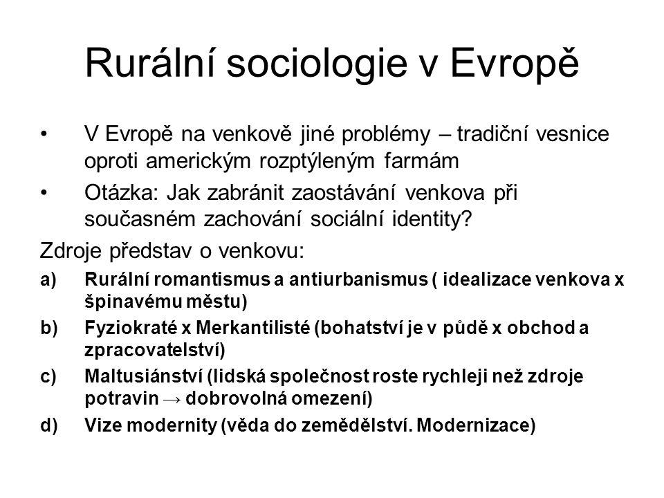 Rurální sociologie v Evropě