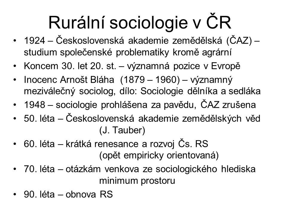 Rurální sociologie v ČR
