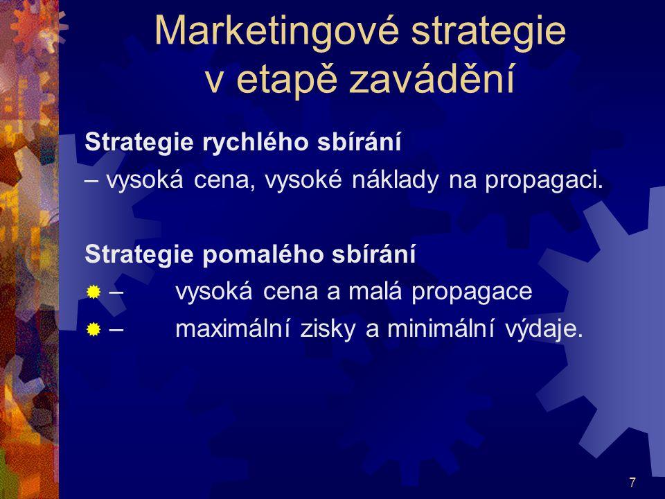 Marketingové strategie v etapě zavádění