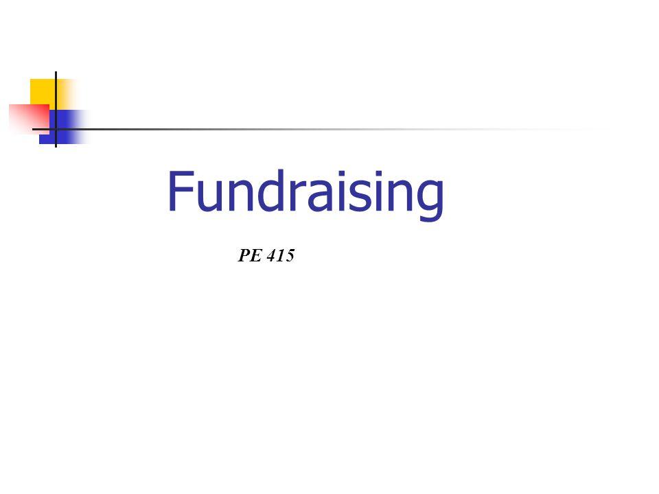 Fundraising PE 415