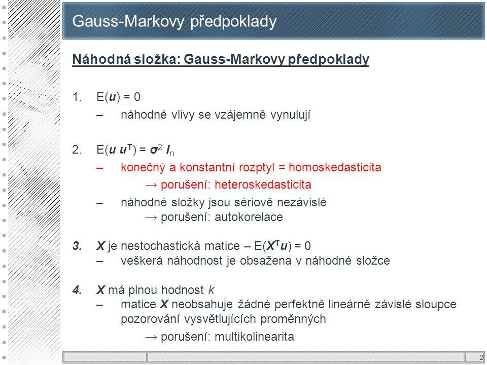 Gauss-Markovy předpoklady