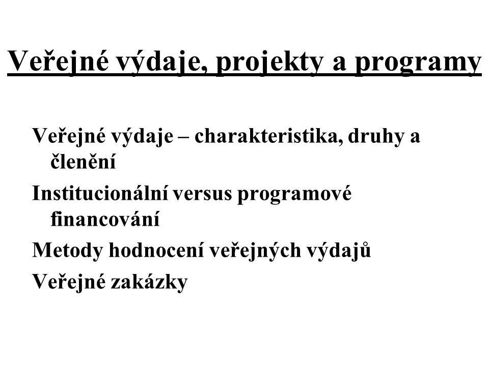 Veřejné výdaje, projekty a programy