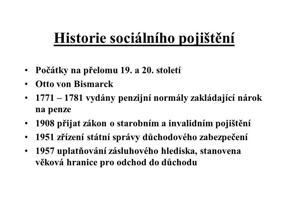Historie sociálního pojištění