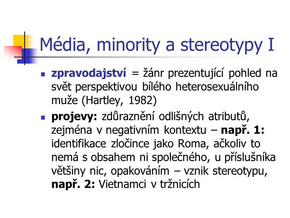 Média, minority a stereotypy I