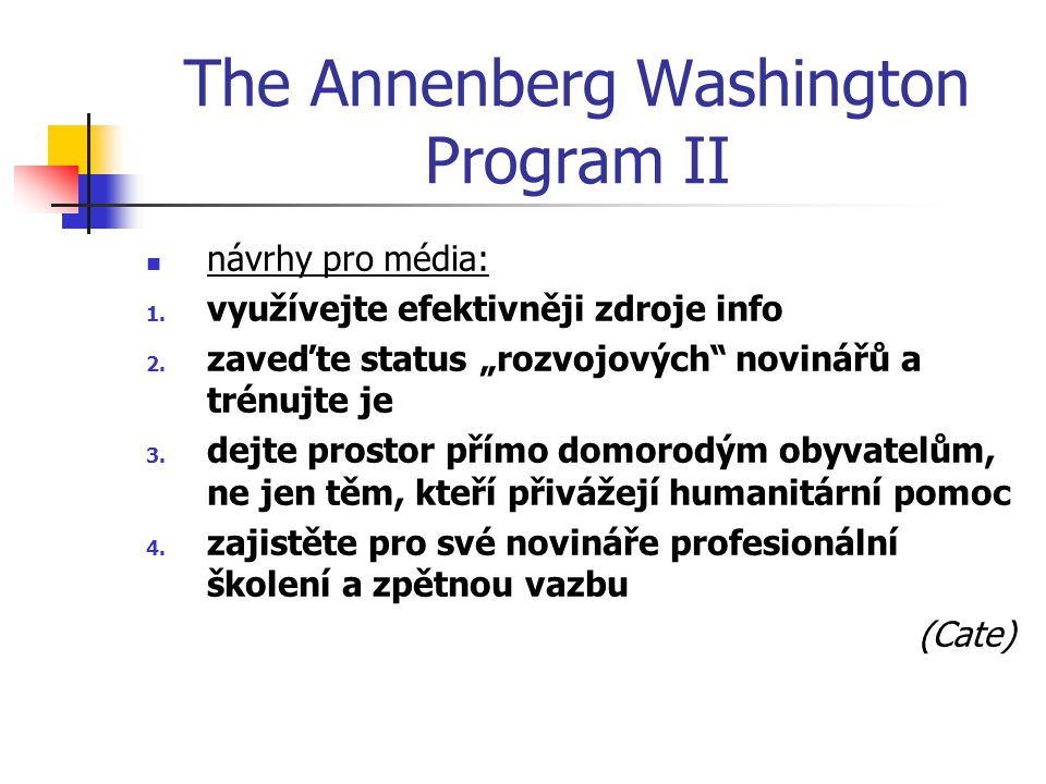 The Annenberg Washington Program II