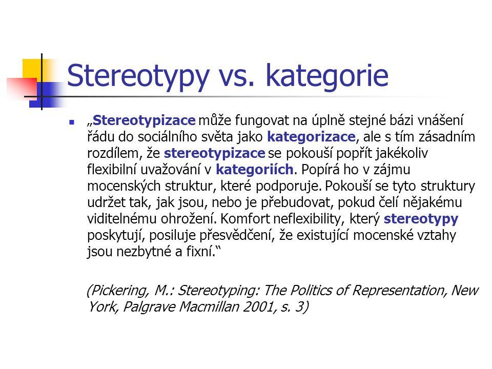 Stereotypy vs. kategorie