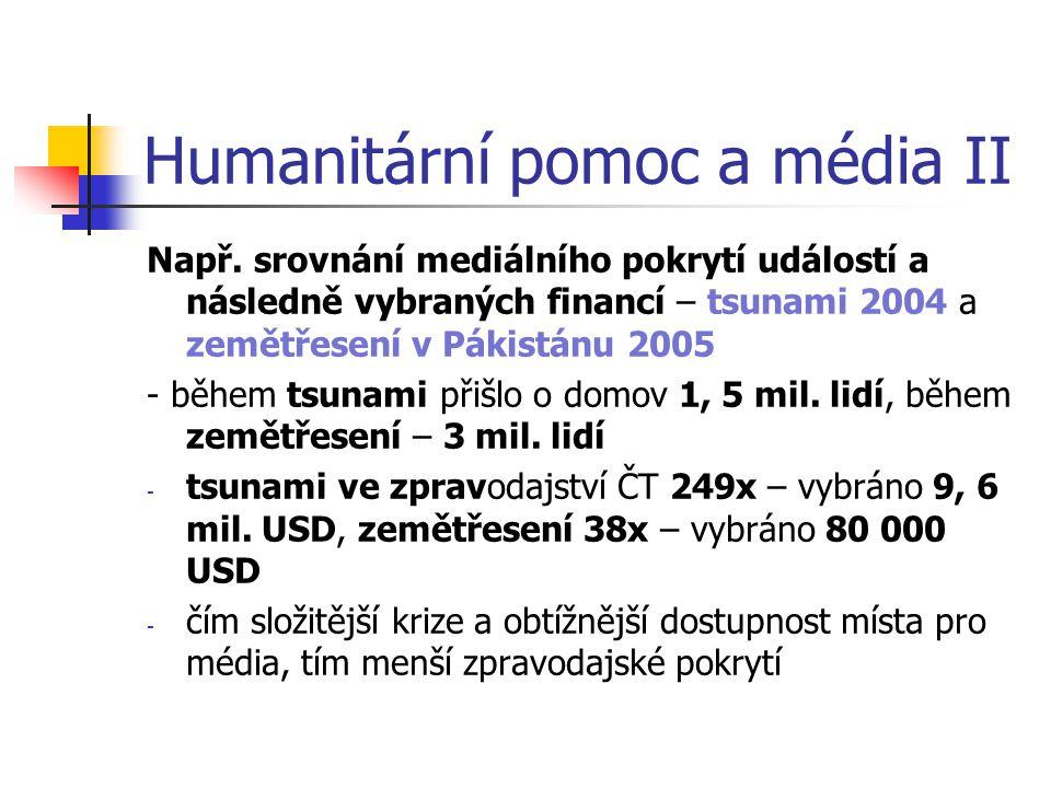 Humanitární pomoc a média II