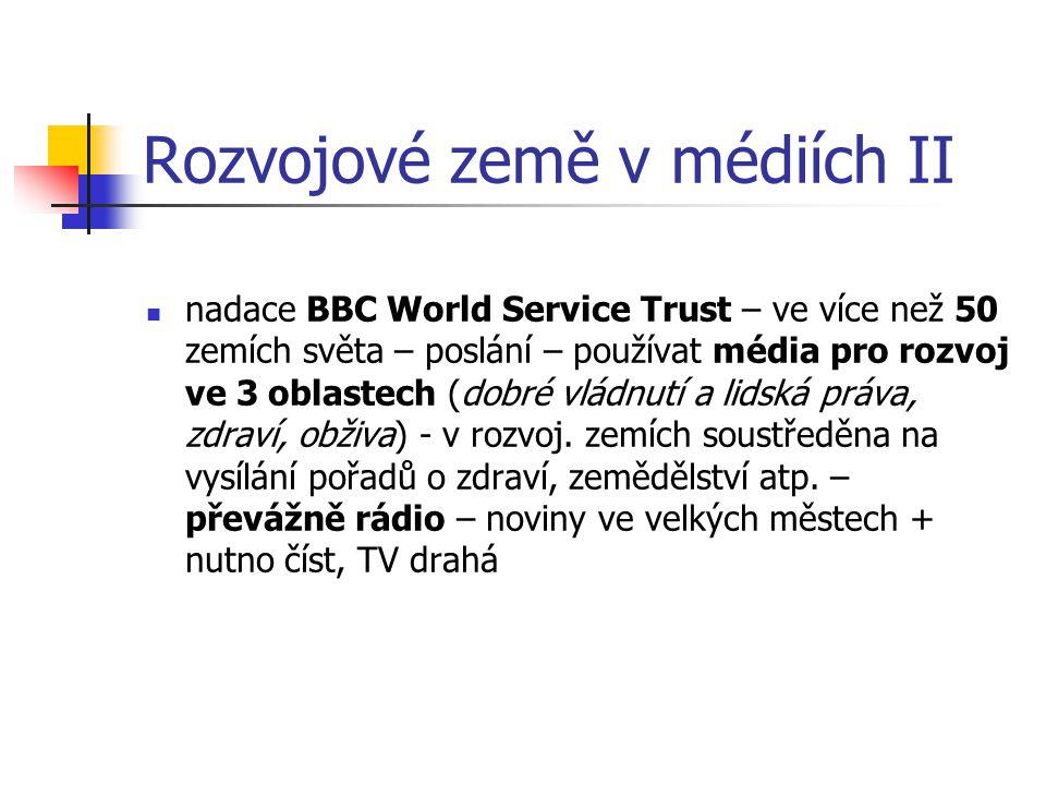 Rozvojové země v médiích II