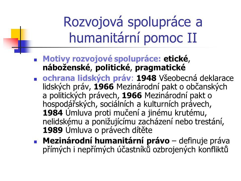 Rozvojová spolupráce a humanitární pomoc II
