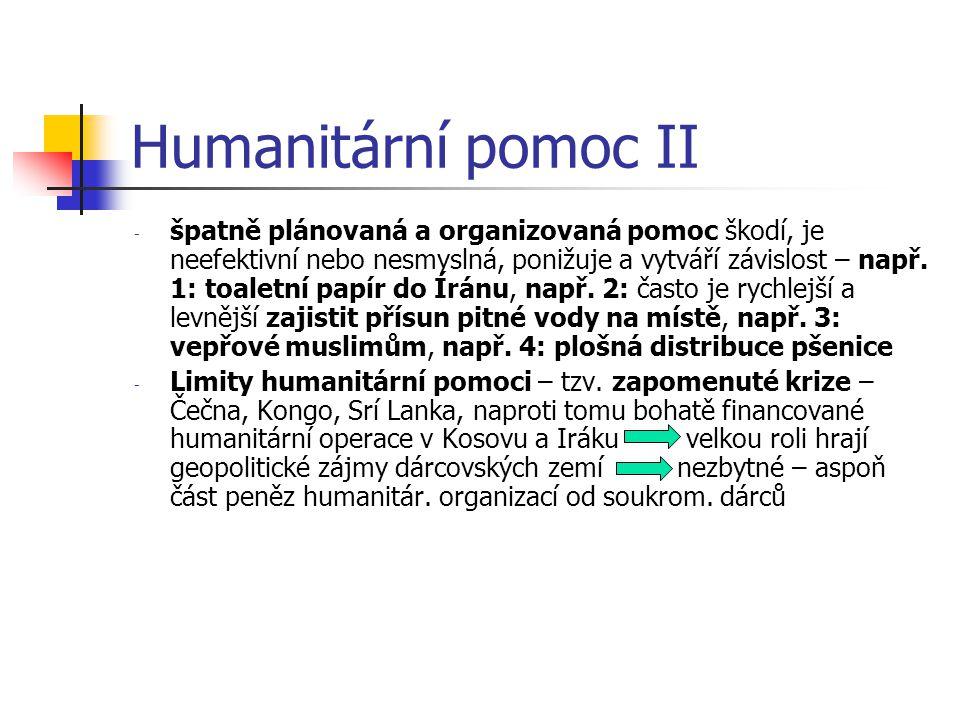 Humanitární pomoc II