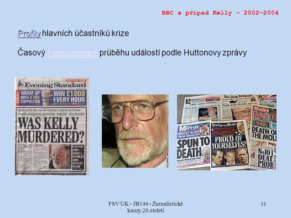FSV UK - JB146 - Žurnalistické kauzy 20.století