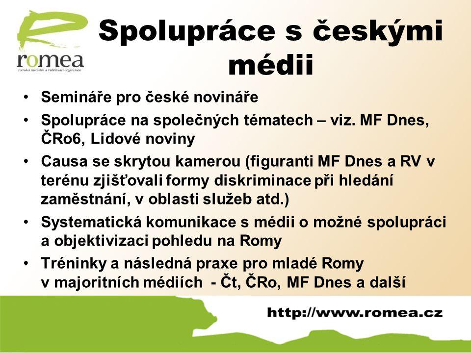 Spolupráce s českými médii