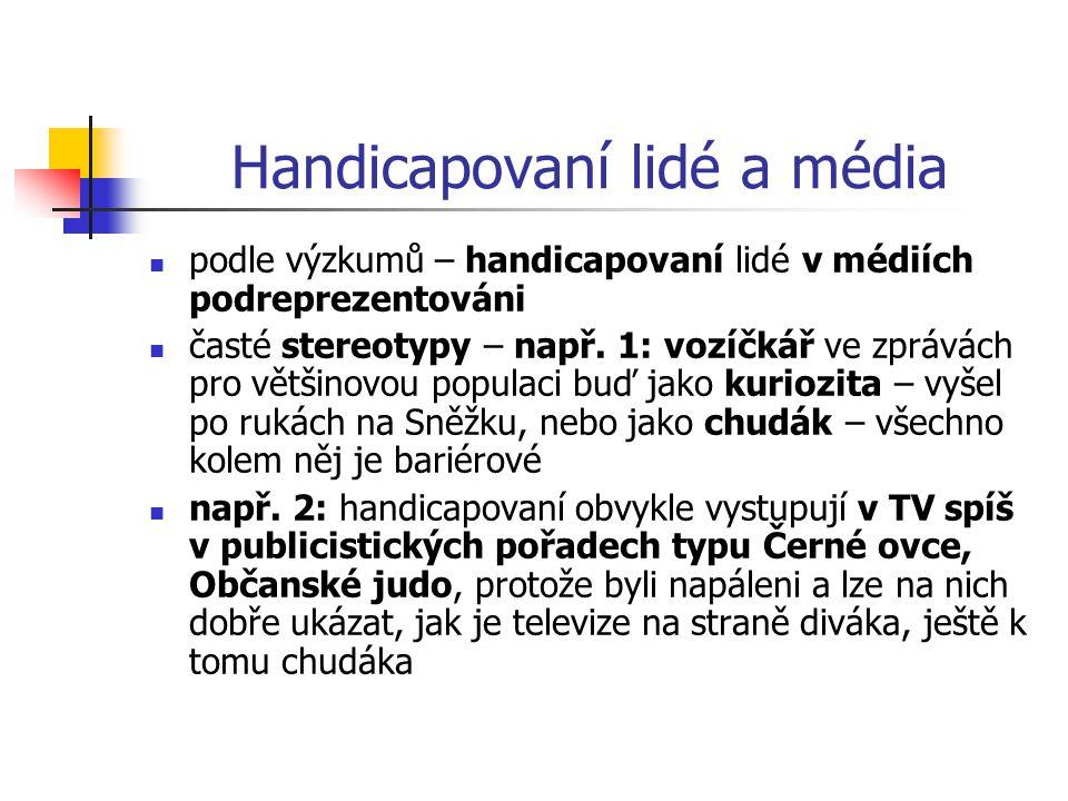 Handicapovaní lidé a média