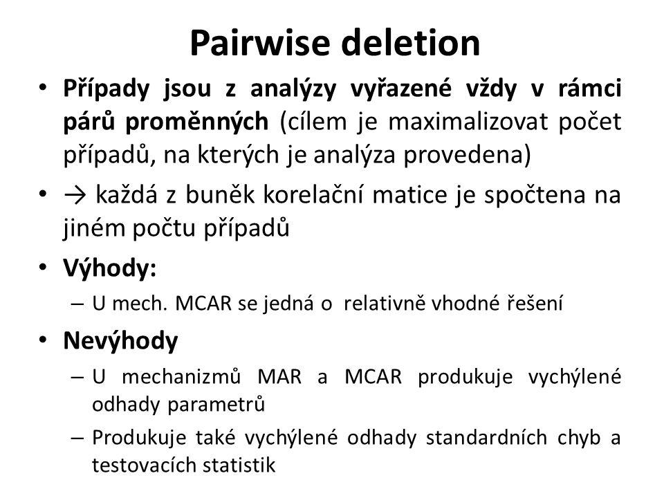 Pairwise deletion