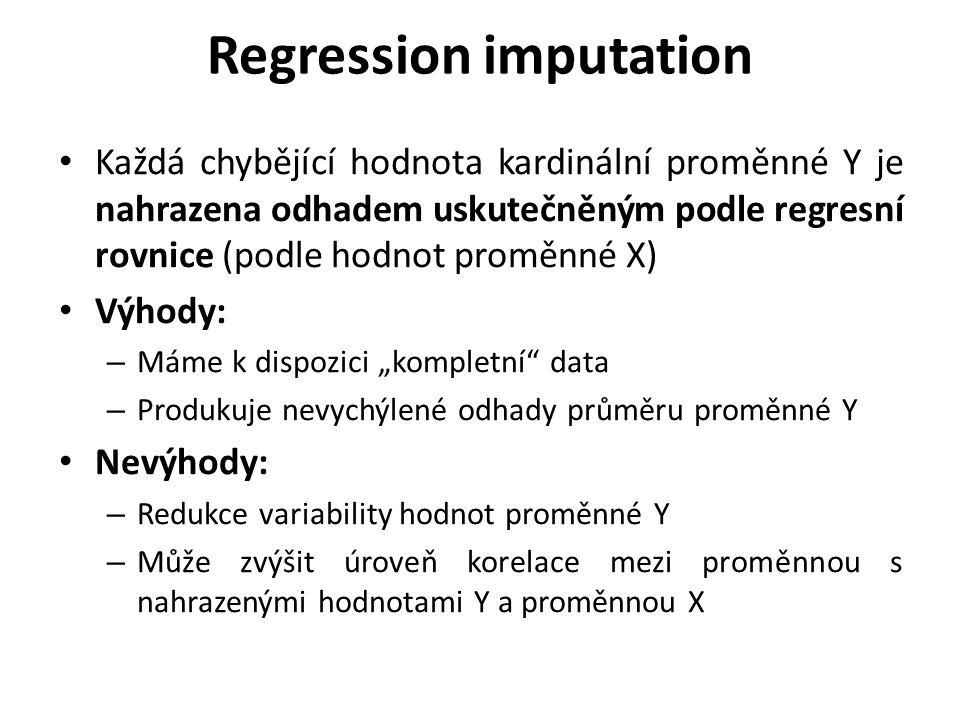 Regression imputation