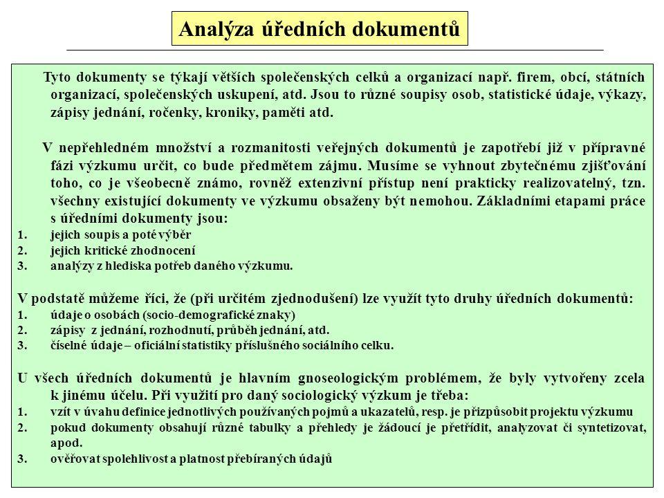 Analýza úředních dokumentů