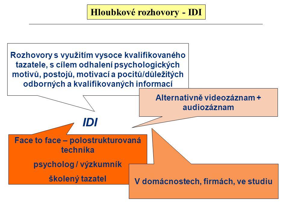 IDI Hloubkové rozhovory - IDI