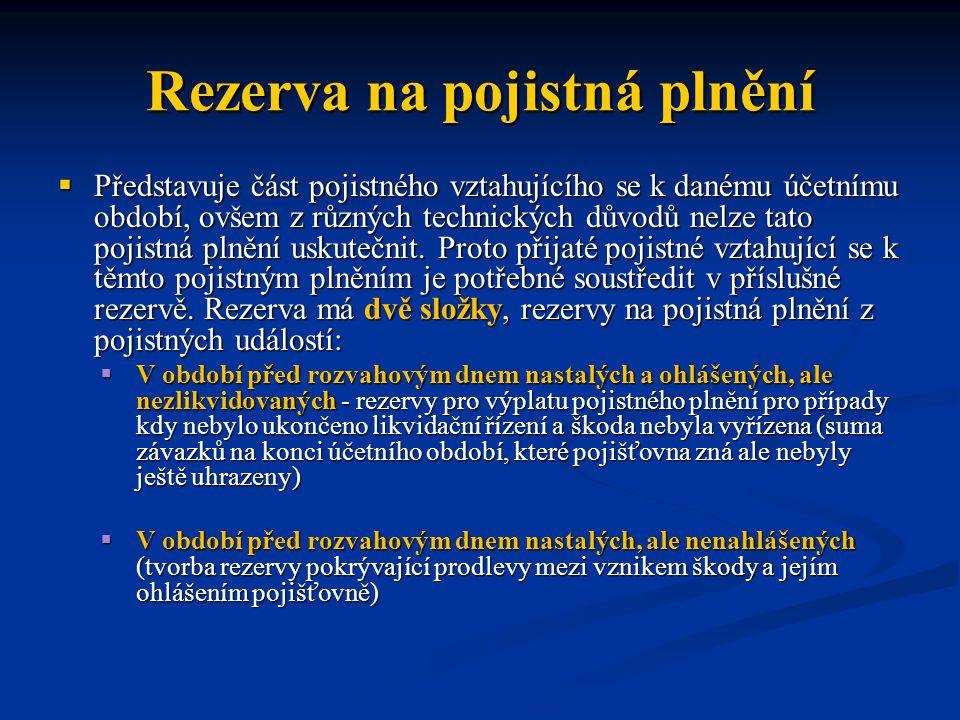 Rezerva na pojistná plnění