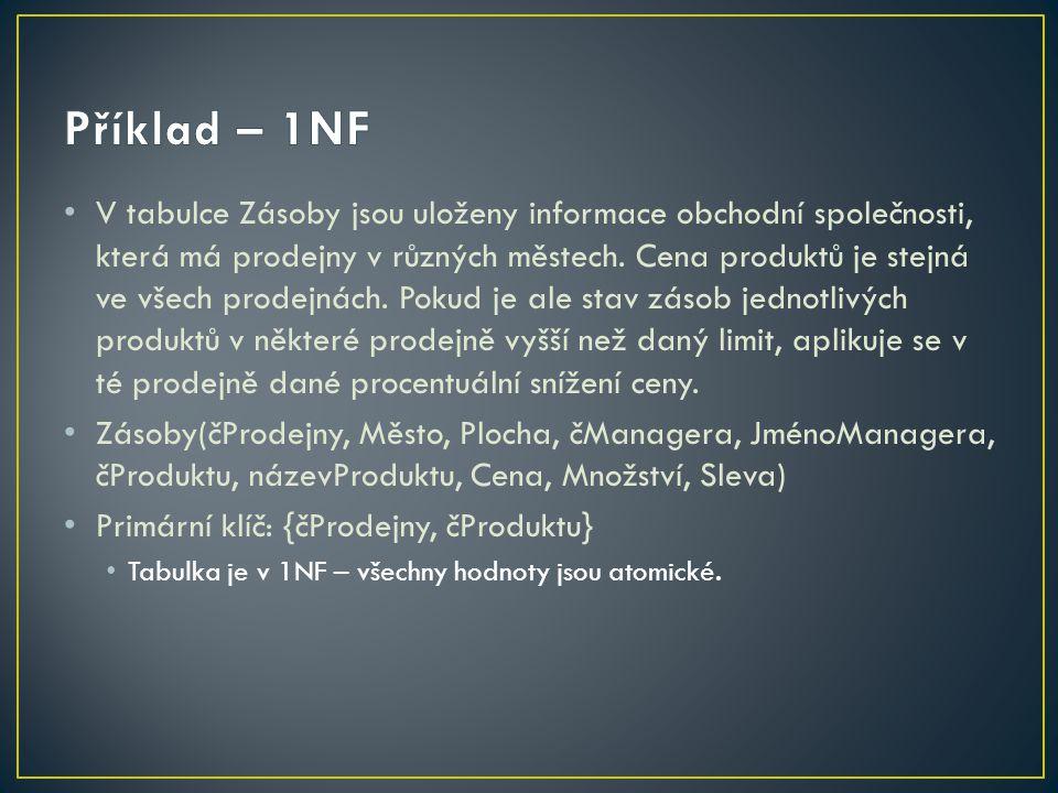 Příklad – 1NF