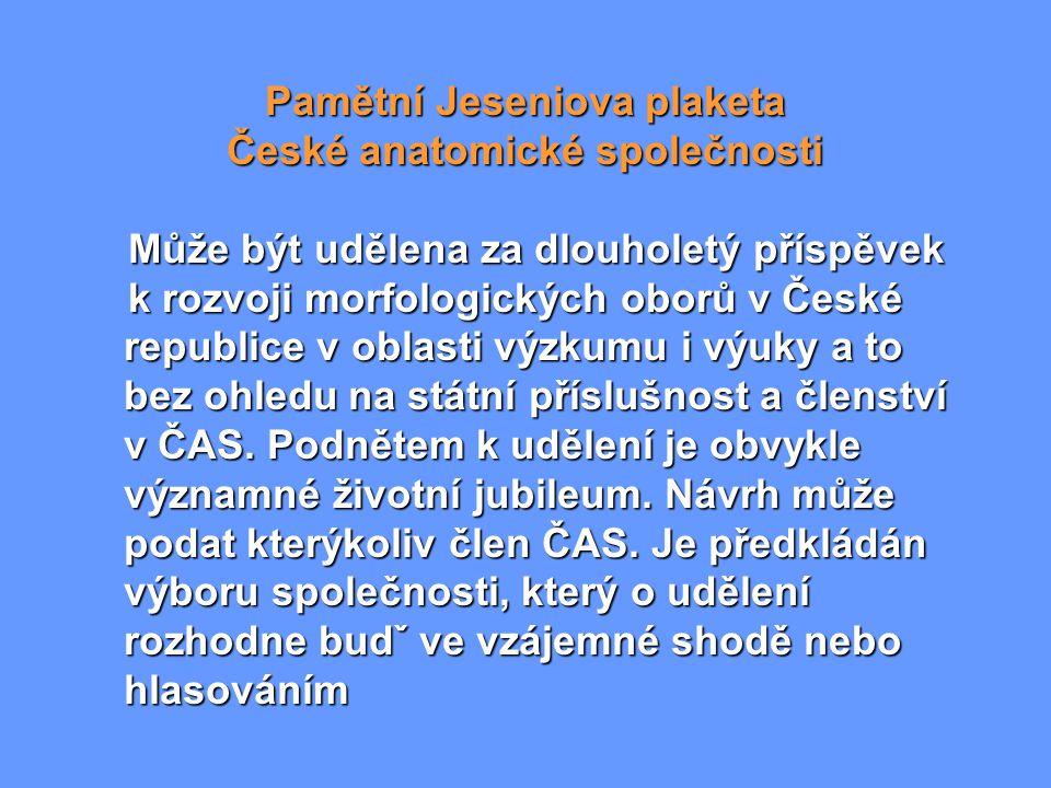 Pamětní Jeseniova plaketa České anatomické společnosti