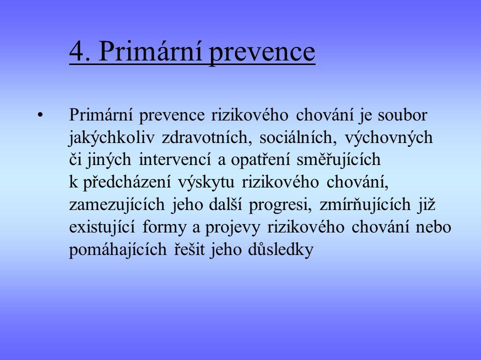 4. Primární prevence