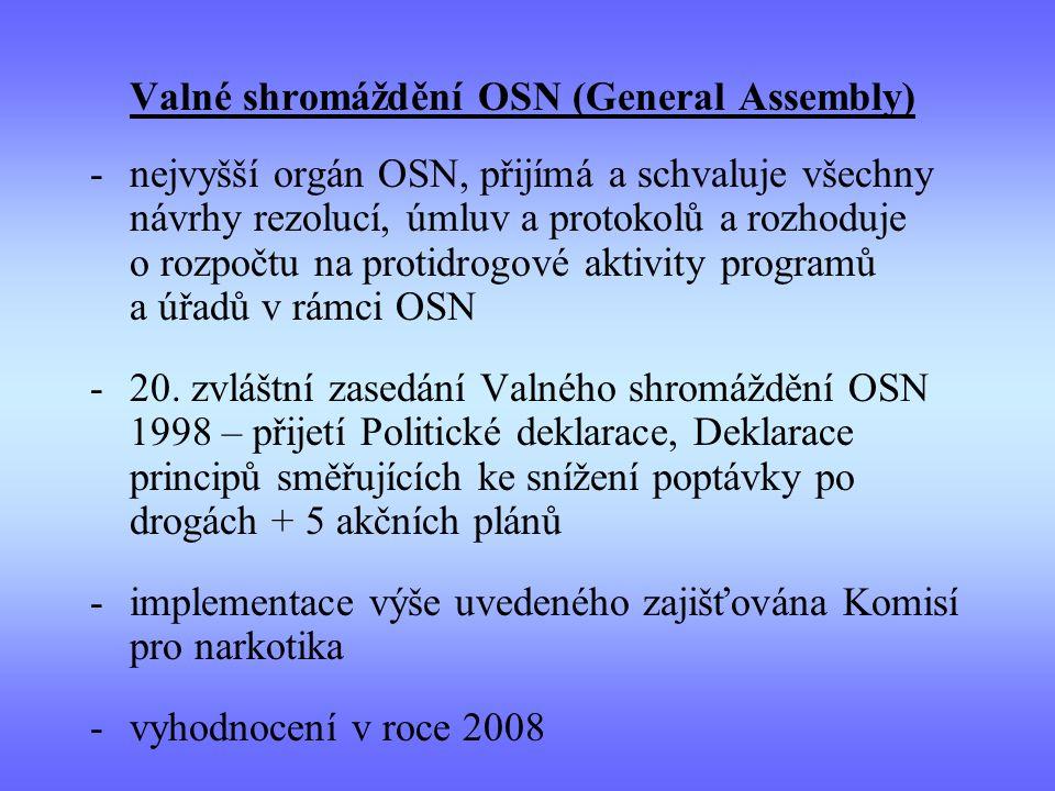 implementace výše uvedeného zajišťována Komisí pro narkotika