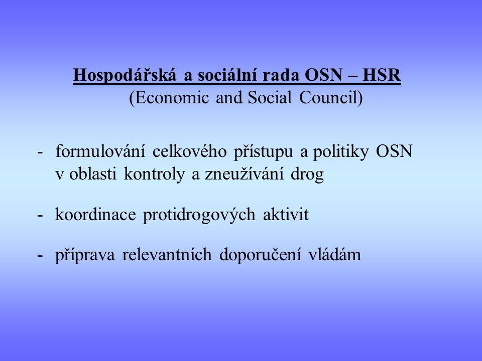 Hospodářská a sociální rada OSN – HSR (Economic and Social Council)