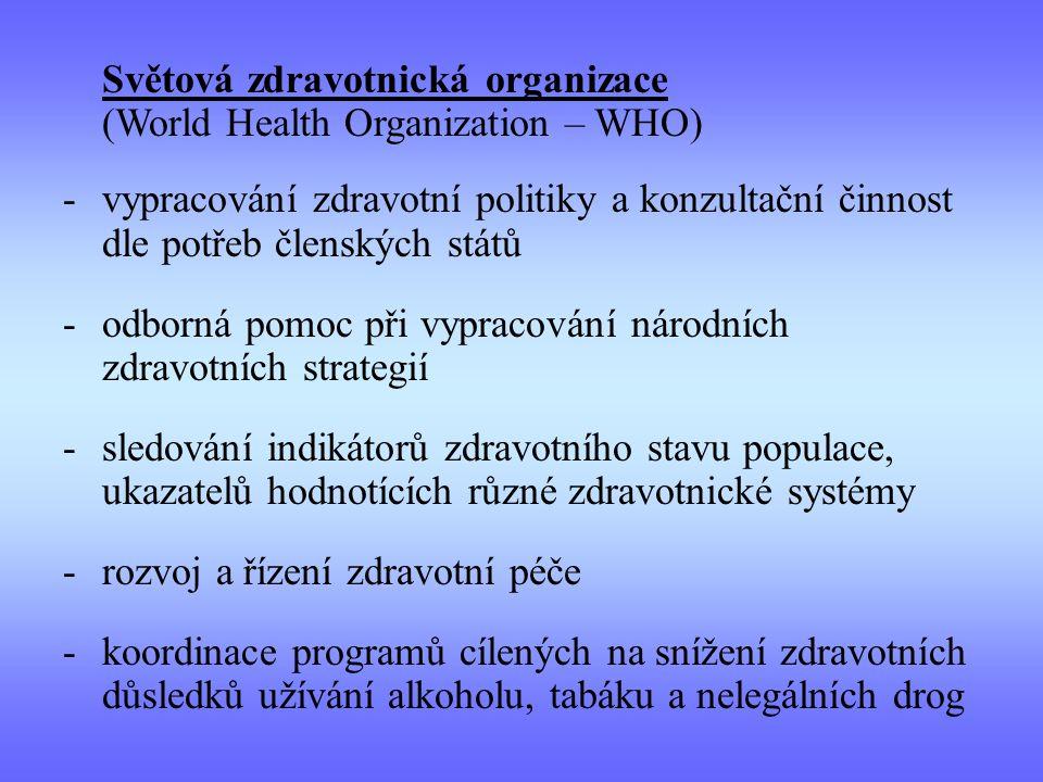 odborná pomoc při vypracování národních zdravotních strategií