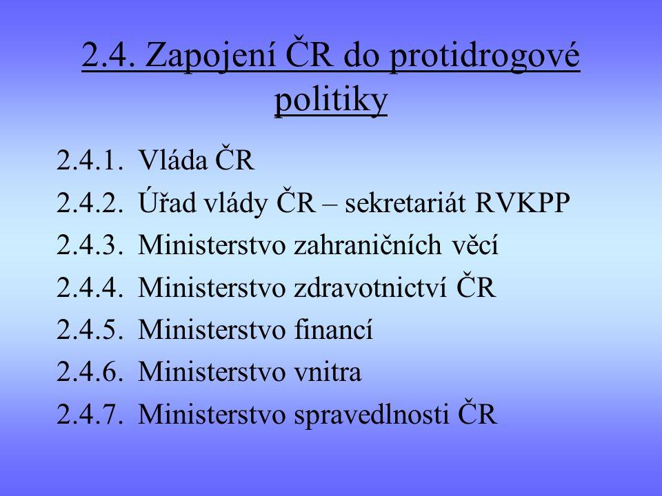 2.4. Zapojení ČR do protidrogové politiky