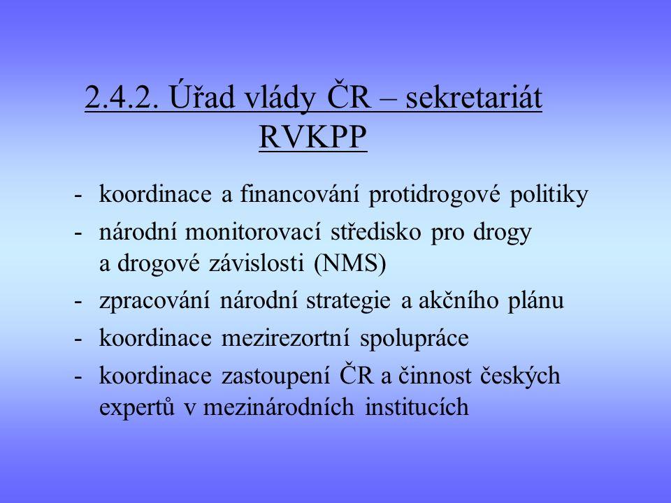 2.4.2. Úřad vlády ČR – sekretariát RVKPP