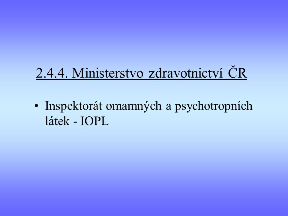 2.4.4. Ministerstvo zdravotnictví ČR