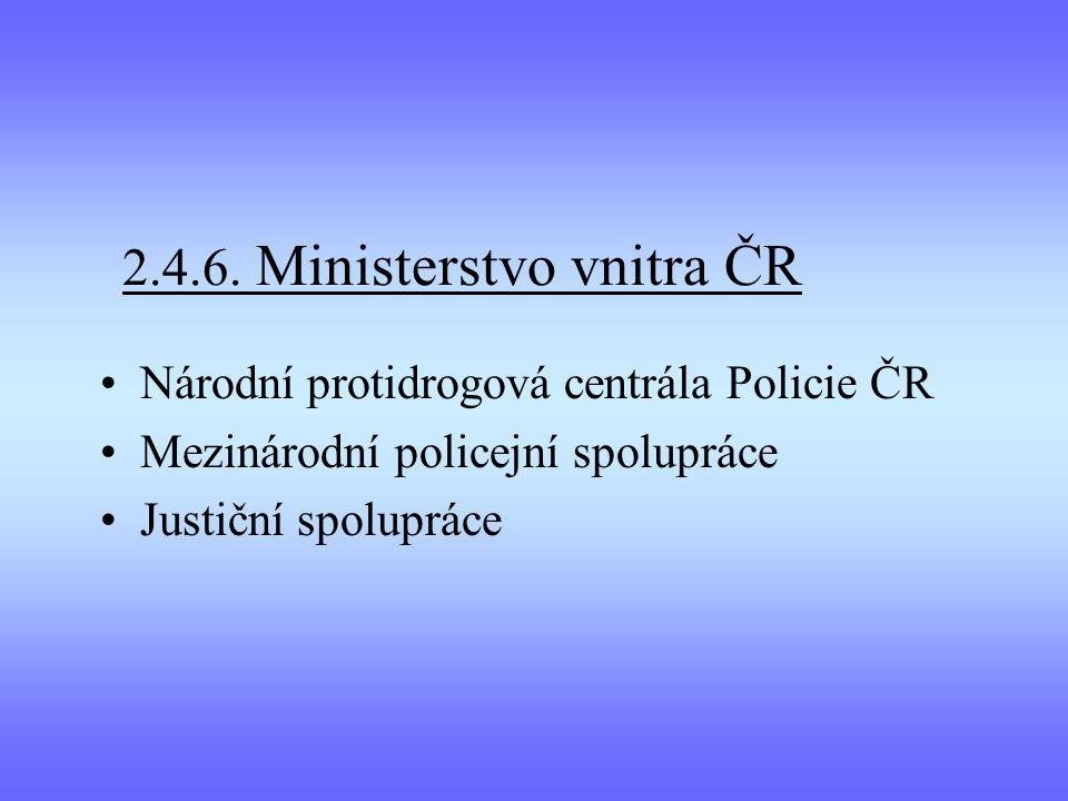 2.4.6. Ministerstvo vnitra ČR