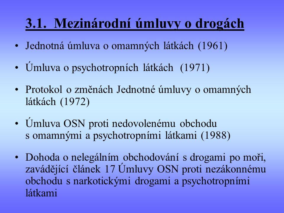 3.1. Mezinárodní úmluvy o drogách