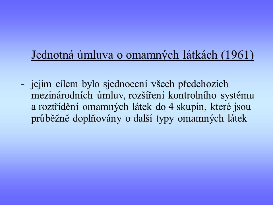 Jednotná úmluva o omamných látkách (1961)
